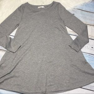Emerald gray soft long sleeve loose top size Small